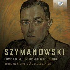 COMPLETE Music for violin and piano 2 CD NEUF szymanowski, Karol Maciej