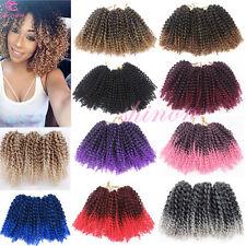 "8"" 12"" MALI BOB Curly Twist Crochet Braids Havana Mambo Synthetic Hair Extension"