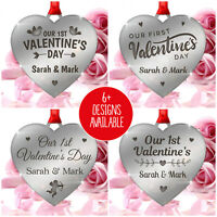 PERSONALISED Couples 1st First Valentines Day Gifts Presents for Him Her Love