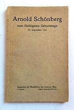 Arnold Schönberg zum fünfzigsten Geburstage 1924