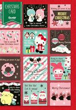 "Sanrio Hello Kitty / My Melody / Little Twin Stars ""Blocks"" Christmas Card"
