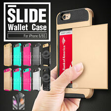 PC Card Pocket Tight Fit Shockproof Wallet Slide Case Cover for iPhone 6 6S Plus