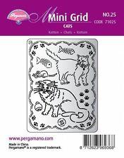 Pergamano Reino Unido Mini Grid 26 Perforador Pergamino 71026 Perros Huellas Huesos Plato
