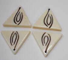 Beads Bone Black White Triangle Pendant Beads Indonesia 28mm