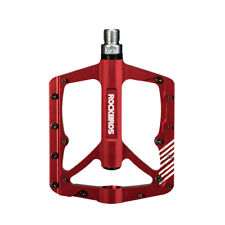 """ROCKBROS Red MTB Wide Bike Bicycle Pedals CNC Aluminum Sealed Bearing 9/16"""""""