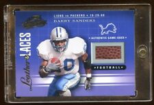 2001 ABSOLUTE BARRY SANDERS GAME USED FOOTBALL /275 LIONS VS PACKERS 10-29-1989