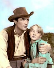 "GREGORY PECK CLAUDE JARMAN JR THE YEARLING 1946 8x10"" HAND COLOR TINTED PHOTO"