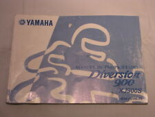 YAMAHA XJ900 diversion  MANUEL DU PROPRIETAIRE OWNER MANUAL1999/07