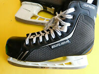 BAUER Supreme Light Speed Pro Tuuk One.4 Black Hockey Skates 12R Shoe Sz 13.5
