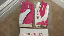 NIKE VAPOR CARBON ADULT 3XL FOOTBALL RECEIVER GLOVES,PINK / WHITE, NFL BCA