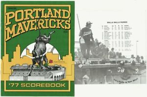 NWL Portland Mavericks 1977 Baseball Program vs. Walla Walla, Ozzie Smith rookie