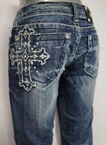 Miss Me Low Rise Slim Stretch Women's Denim Jeans 26 x 33 JE534OB2L
