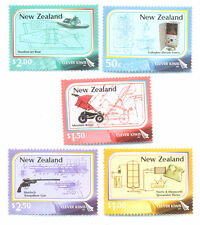 New Zealand-Clever kiwis - inventions - science mnh set (2982-6)