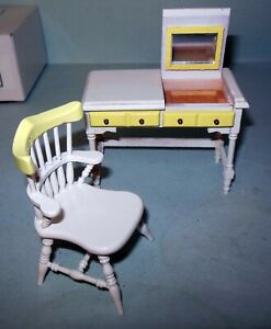 DESK WITH CHAIR 108 DOLLHOUSE FURNITURE MINIATURES
