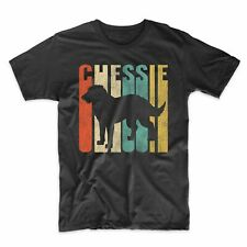 Retro 1970's Style Chessie Dog Chesapeake Bay Retriever Distressed T-Shirt