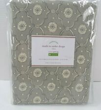 "Pottery Barn Kaila Trellis Linen Cotton Rod Pocket Curtain 50x 108"" Gray #9574"