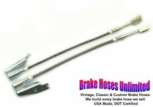 FRONT STAINLESS BRAKE HOSES Lincoln Continental Town Car 1970 1971 1972