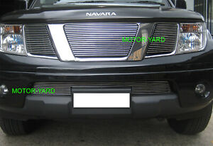 Nissan Navara D40 / Pathfinder 05-09 Top Billet Grille Grill (No Badge Hole)