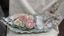 LLADRO River Of dreams #1866 Floral Boat 1213/2500 Porcelain Flower Woman