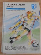 Stadionzeitung 1 FC Magdeburg vom 5.05.1990 gegen Dynamo Dresden