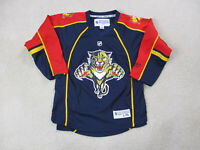 Reebok Florida Panthers Hockey Jersey Youth Extra Large Blue Red Kids Boys A5