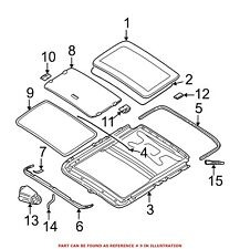 For BMW Genuine Sunroof Seal 54102497175