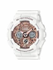 Casio GMAS120MF-7A2 G-Shock S Series White and Rose Gold 46mm Women's Watch