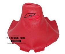 """Pour Seat Ibiza 2002-08 Soufflet Levier De Vitesse Cuir Rouge """"FR"""" Rouge Logo"""