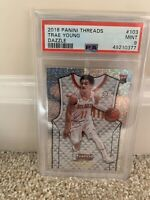 2018-19 PANINI THREADS DAZZLE TRAE YOUNG RC ROOKIE SP #103 PSA 9 MINT HAWKS