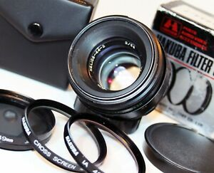 "HELIOS 44-2 2/58 58mm f2 prime ""BOKEH""  Camera LENS USSR M42 fit 49mm FILTER SET"