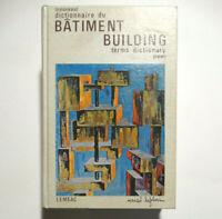Dictionnaire du bâtiment Marcel Lefebvre 1971 Building terms Dictionary QUEBEC