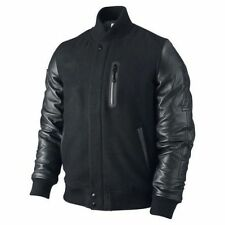 "Michael Jordan Men's KOBE Destroyer XXIV Jacket ""Battle"" - Leather Sleeves"