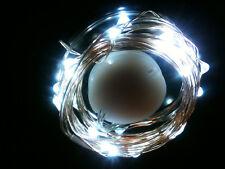 30 LED BLANC CR2032 Pile 3M SW fil clair - sur ou mode flash vendeur anglais /