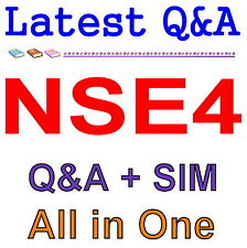 Fortinet Network Security Expert 4 Written 400 NSE4 Exam Q&A PDF+SIM
