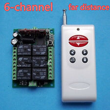 12v 6ch Rf Wireless toggle/latch/momentary Control Remoto receptor + transmisor