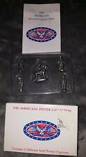 The Americana Collection Liberty Falls Ah19 - 5 Piece Miniature Pewter Figurines