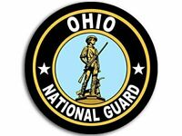 """4"""" OHIO ARMY NATIONAL GUARD ANG CAR BUMPER STICKER DECAL USA MADE"""
