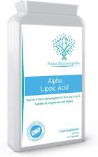 Alpha Lipoic Acid 300mg 120 Capsules – Dual ALA Both R-ALA and S-ALA - UK