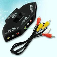 3 Way Audio Video AV RCA Switch Selector Box Splitter For XBOX PS3 PS2 DVD