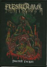 FLESHCRAWL-FORCED TO KILL- WOVEN PATCH-DEATH-METAL