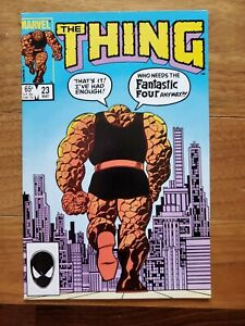 The Thing #23 Marvel Comic 1984 with Fantastic Four