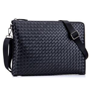 Business Men's Genuine Leather Handbag Clutch Bag Crossbody Shoulder Bag