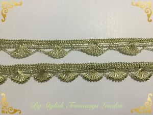 Golden Sparkly Braid lace Lurex trim craft DIY sewing Christmas decor Wedding