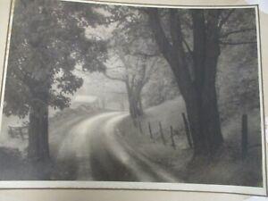 VTG BOSTON CAMERA CLUB ORIGINAL L. WHITNEY STANDISH PHOTOGRAPH WINDING DIRT ROAD
