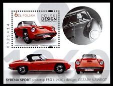 "Autos. Polnisches Design, ""FSO Syrena Sport"". Block. Polen 2016"