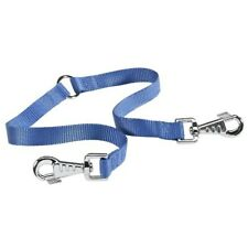 Correa doble acople nylon azul Twin Ferplast perros largo regulable 28-42 cm
