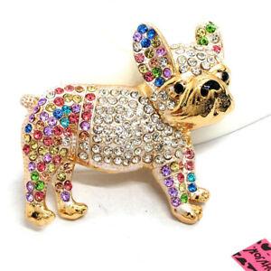 Betsey Johnson Lovely Color Rhinestone Cute Bear Car Crystal Brooch Pin Gifts