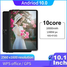 """10.1"""" Touch Screen Android 10+512GB Octa-Core Support OTG WiFi G-Sensor Tablet"""