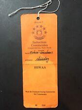 1993 Baseball Hall Of Fame Induction Hof  Press Pass Ticket Reggie Jackson
