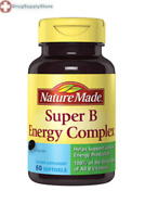 Nature Made Super B Energy Complex 60 Liquid Softgels Cellular Energy Production